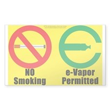 No Smoking Vaper Decal