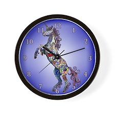Unique Horse watercolor art Wall Clock