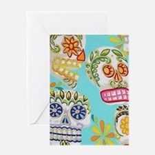 Modern Fun Decorative Sugar Skulls Greeting Cards