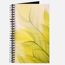 Beautiful Feather Golden Yellow Leaf Journal