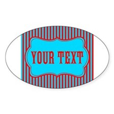 Personalizable Red and Teal Striped Decal