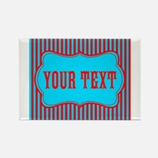 Personalizable Red and Teal Striped Magnets