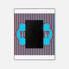 Personalizable Red and Teal Striped Picture Frame