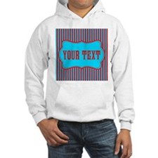 Personalizable Red and Teal Striped Hoodie
