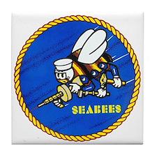 Us Navy Seabees Tile Coaster