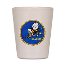 US Navy SeaBees Shot Glass