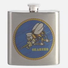 US Navy SeaBees Flask