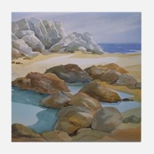 Rocks and Tide Pool Tile Coaster