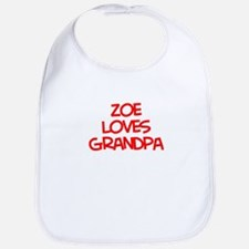 Zoe Loves Grandpa Bib