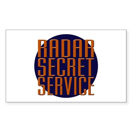 Radar Secret Service Rectangle Sticker
