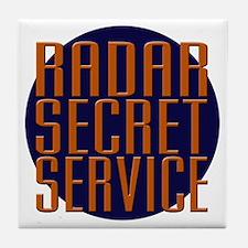 Radar Secret Service Tile Coaster