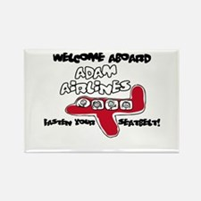 Adam Airlines Rectangle Magnet