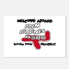 Adam Airlines Postcards (Package of 8)