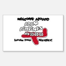 Adam Airlines Rectangle Decal