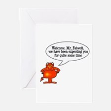Welcome to Hell Jerry Falwell Greeting Cards (Pack