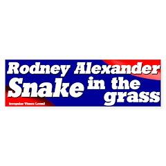 Rodney Alexander the Snake Bumper Sticker