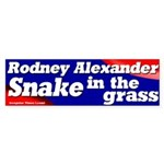 Rodney Alexander the Snake Bumper Sticker