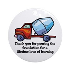 Thank you teacher gifts Ornament (Round)