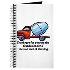 Thank you teacher gifts Journal