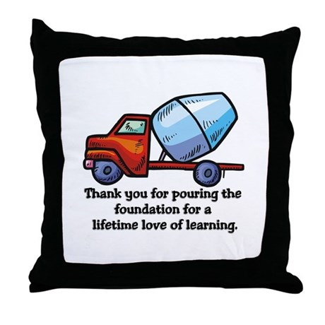 Thank you teacher gifts Throw Pillow