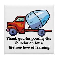 Thank you teacher gifts Tile Coaster