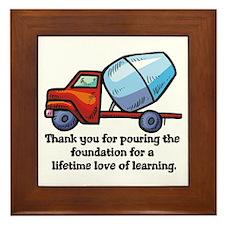 Thank you teacher gifts Framed Tile
