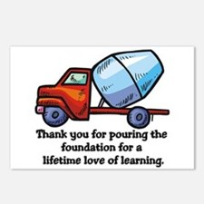 Thank you teacher gifts Postcards (Package of 8)