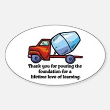 Thank you teacher gifts Oval Decal
