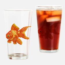 Cute Goldfish Drinking Glass