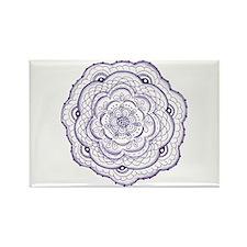 Purple Flower Doodle Magnets