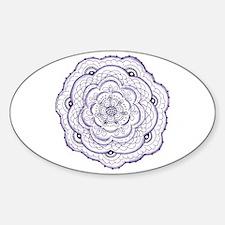 Purple Flower Doodle Decal