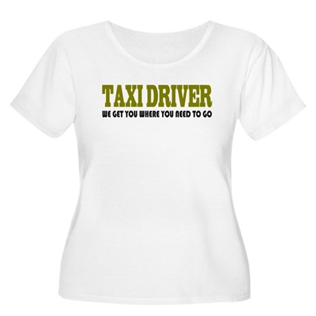 Funny Taxi Driver Women's Plus Size Scoop Neck T-S