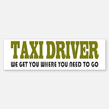 Funny Taxi Driver Bumper Bumper Bumper Sticker