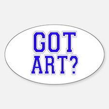Got Art? Oval Decal
