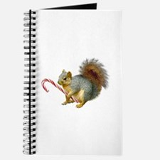 Squirrel Candy Cane Journal