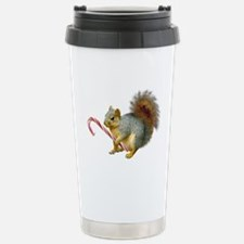 Squirrel Candy Cane Stainless Steel Travel Mug