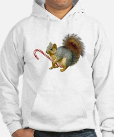 Squirrel Candy Cane Hoodie