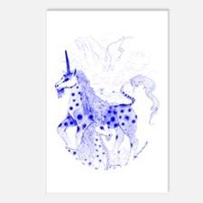 Blue Unicorns True Love Postcards (Package of 8)