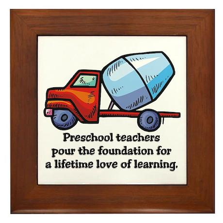 Preschool Teacher Gift Ideas Framed Tile