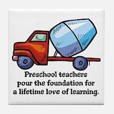 Preschool Teacher Gift Ideas Tile Coaster