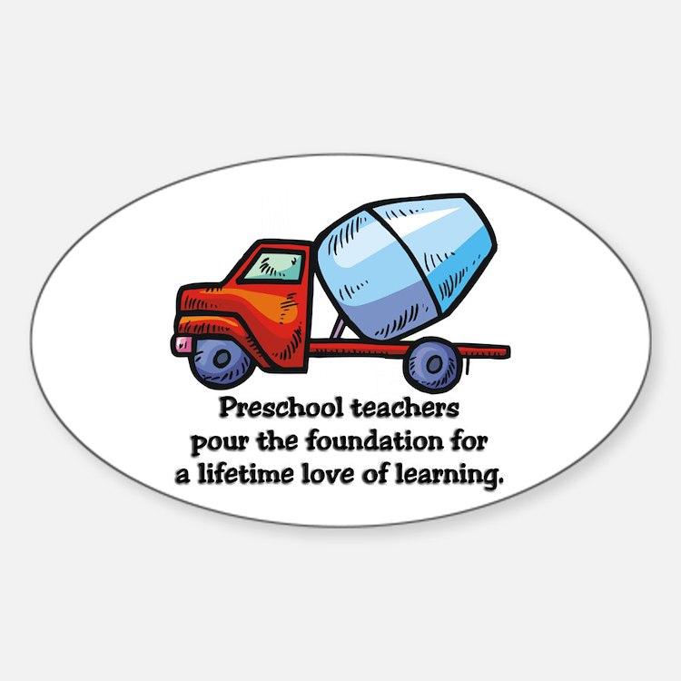 Preschool Teacher Gift Ideas Oval Decal