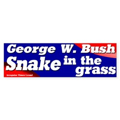 Bush Snake in the Grass Bumper Bumper Sticker