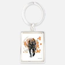 Proud Tiger Portrait Keychain