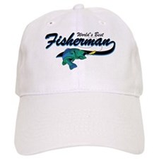World's Best Fisherman Blue Baseball Cap