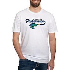 World's Best Fisherman Blue Shirt