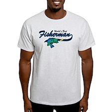 World's Best Fisherman Blue T-Shirt