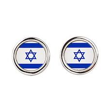 Unique Judaism Round Cufflinks