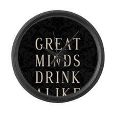 Unique Drinking sayings Large Wall Clock