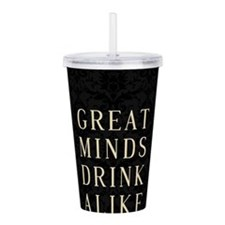 Cute Funny beer drinking Acrylic Double-wall Tumbler