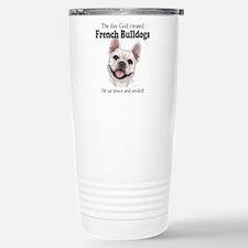 God smiled: Cream Frenc Travel Mug